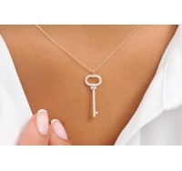 Diamond Key Necklacce