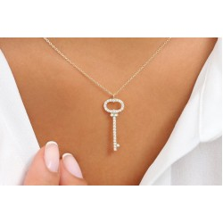 Diamond Key Necklacce