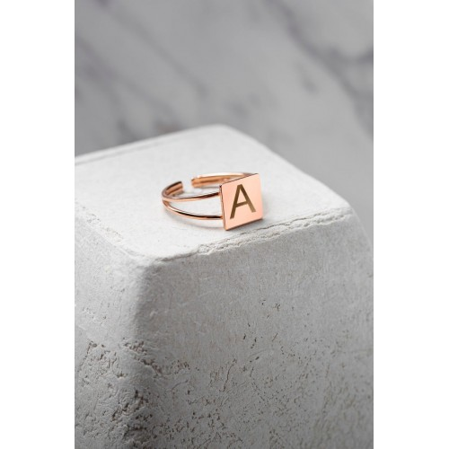 14 K Gold Name Personalized Ring